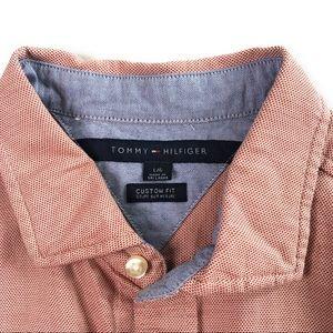 Tommy Hilfiger Shirt Custom Fit Long Sleeve Large